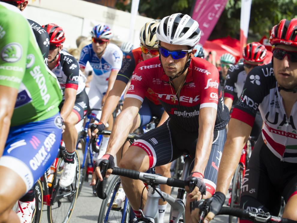 Alberto Contador, durante la etapa de este viernes