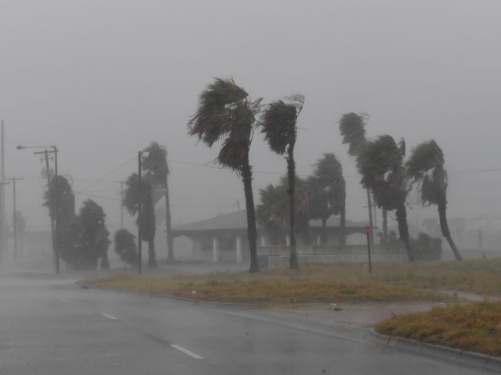 El huracán Harvey a su llegada a Texas.