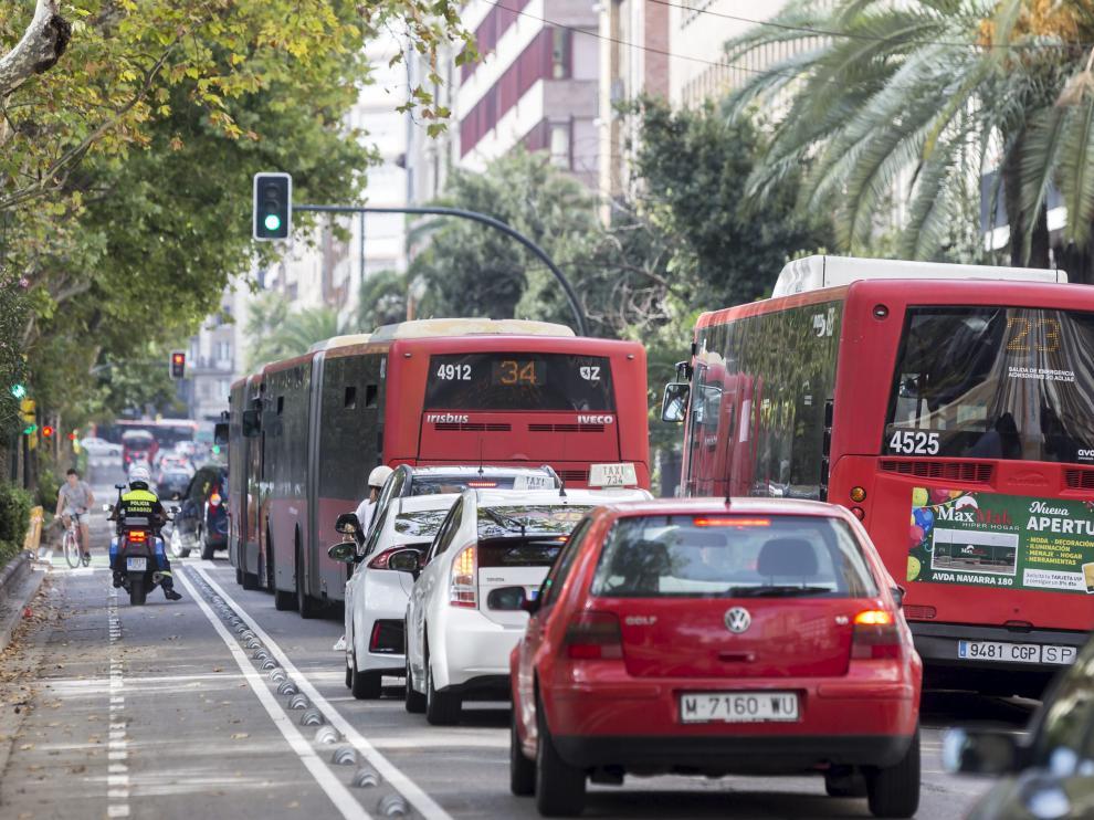 Ya se ha abierto al tráfico el carril bici de Sagasta