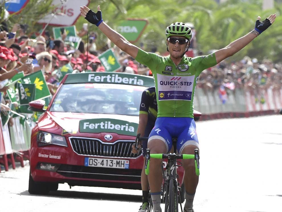 Matteo Trentin, ganador de la décima etapa