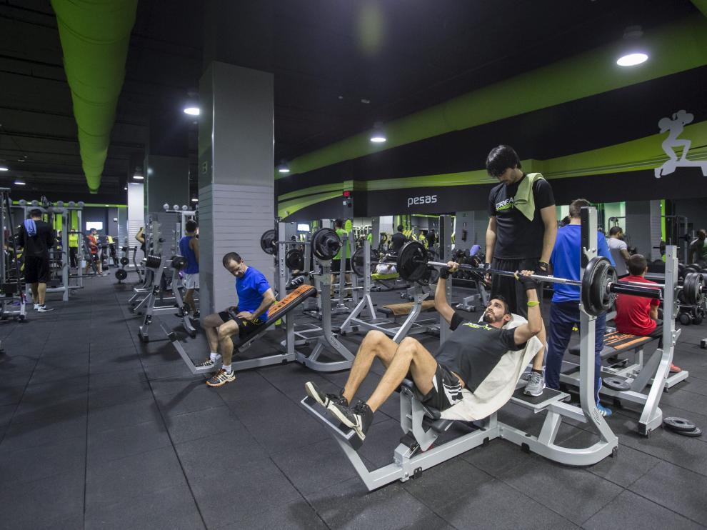 Imagen de archivo de un gimnasio de Zaragoza.