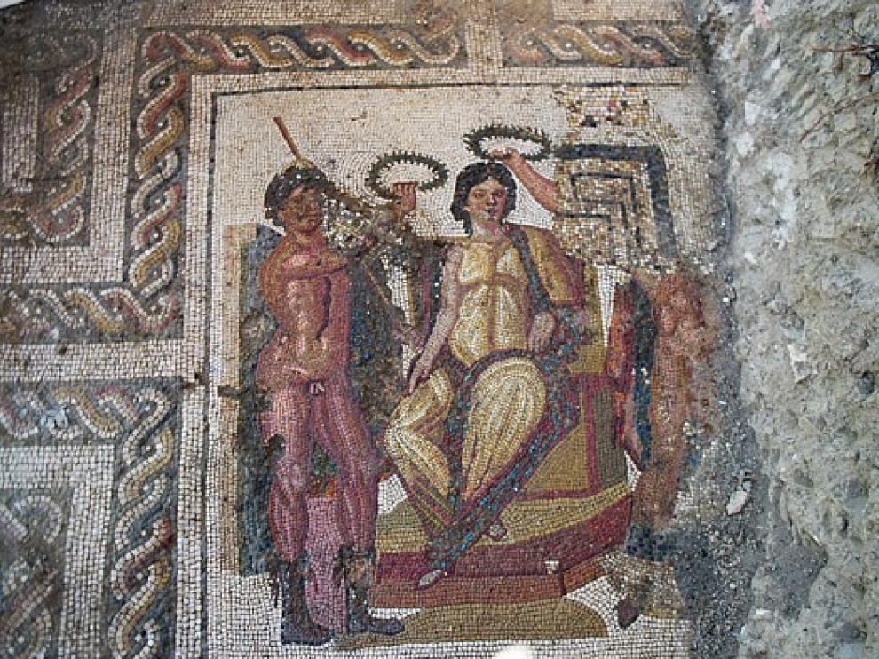 Uno de los mosaicos de la villa de La Malena.