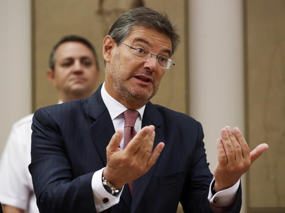 El ministro de Justicia, Rafael Catalá, lo ha revelado durante su comparecencia en la Comisión de Justicia del Congreso.
