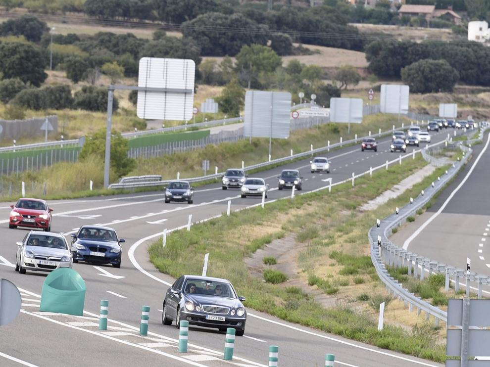 El tráfico fue fluido en Monrepós durante toda la tarde y no hubo incidencias destacables.