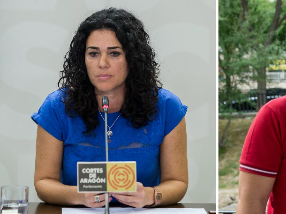 Erika Sanz y Nacho Escartín, los dos posibles aspirantes a la sucesión de Pablo Echenique
