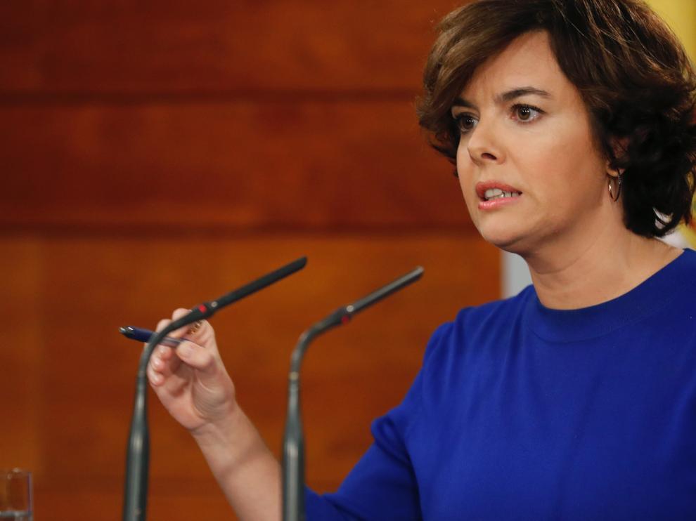 Soraya Saenz de Santamaría, candidata a presidir el PP.