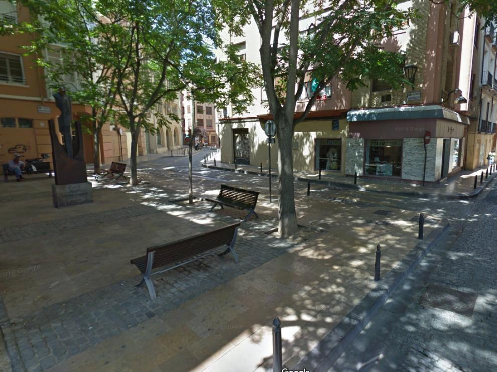 La calle de Espoz y Mina esta en obras desde este lunes.