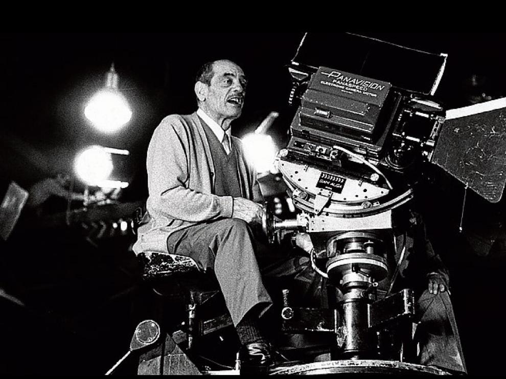 El director de cine calandino, en acción.