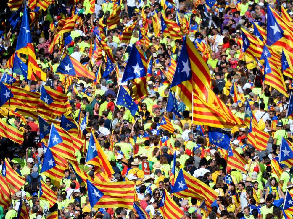 Foto de archivo de la Diada de Cataluña