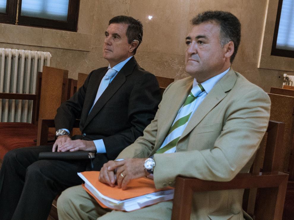 El que fuera director general de Deportes, José Luis 'Pepote' Ballester, y el expresidente del Gobierno balear, Jaume Matas.