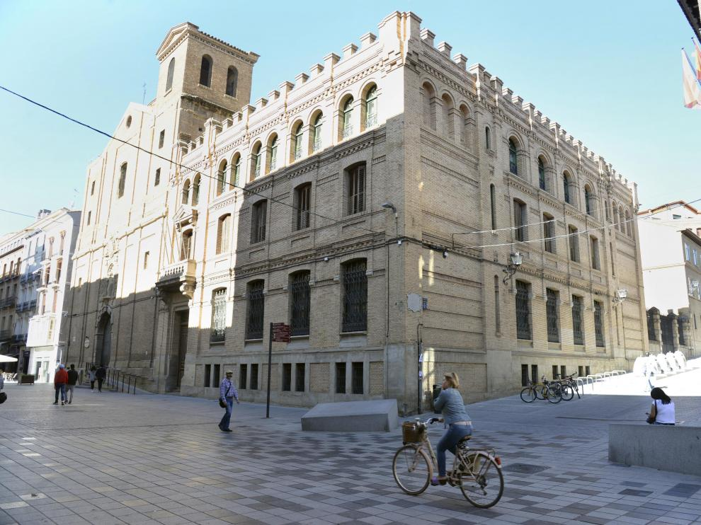 La entrada a la nueva sede comarcal se hará desde los jardines del edificio, situados en la calle Moya