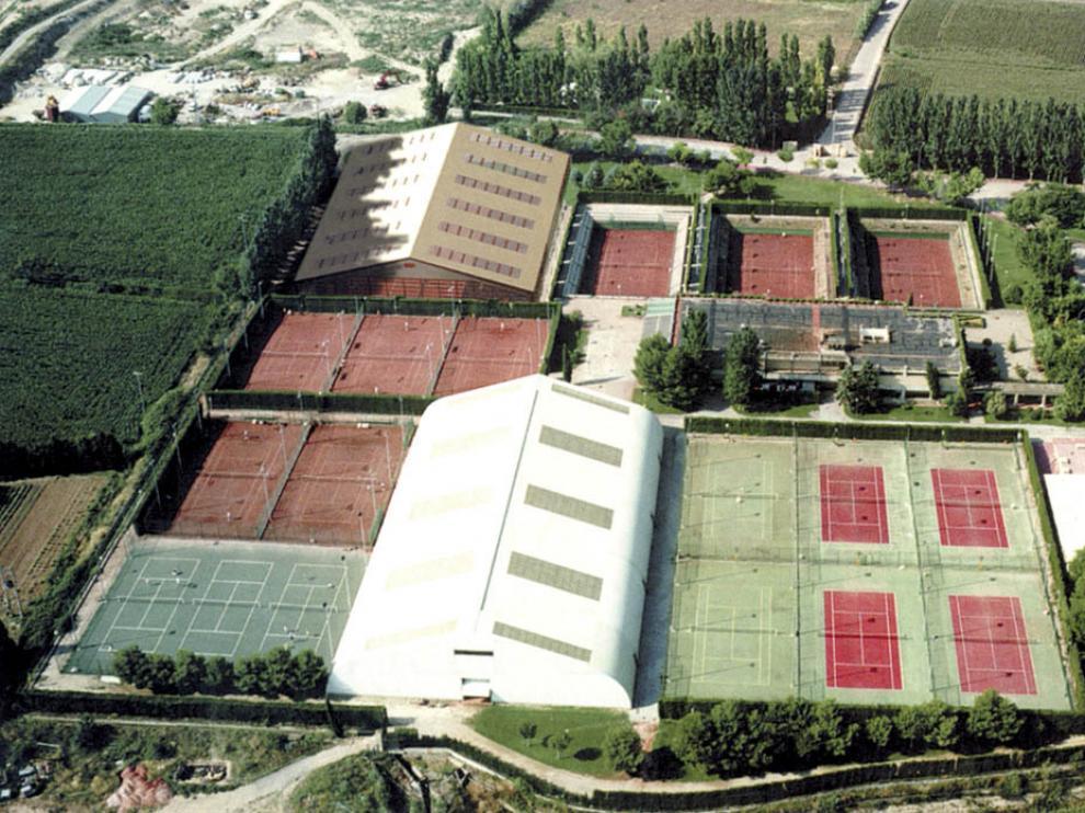 Vista aérea de las instalaciones del Real Zaragoza Club de Tenis (RZCT).