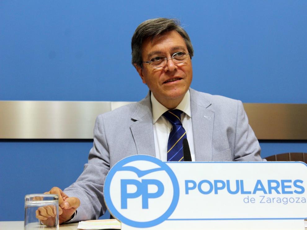 José Ignacio Senao, concejal popular en el Ayuntamiento de Zaragoza.