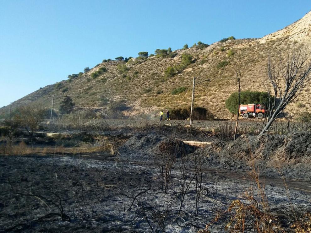 Lugar donde se ha originado el incendio.