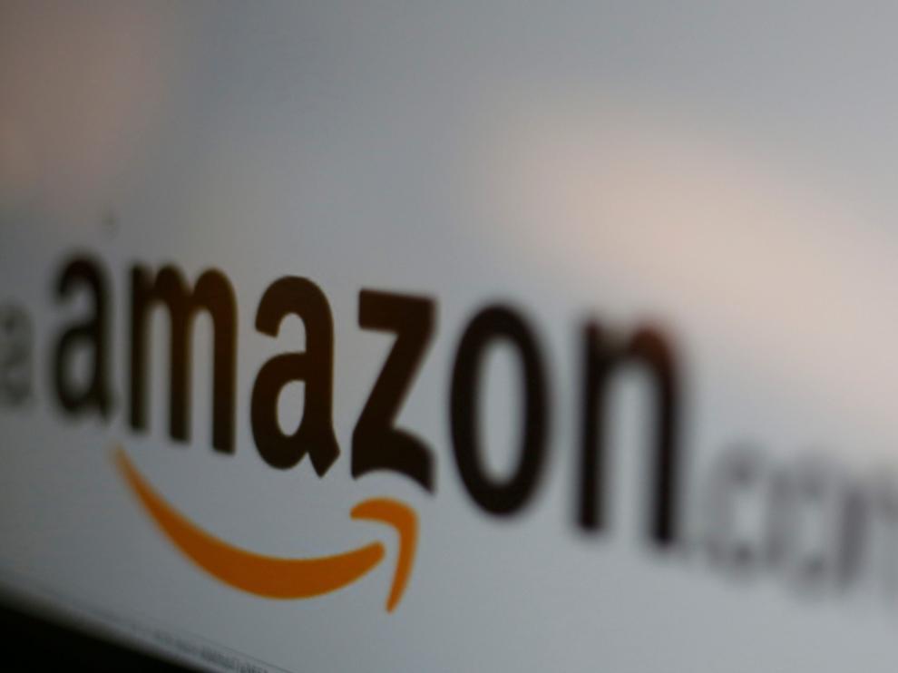 El logo de Amazon.