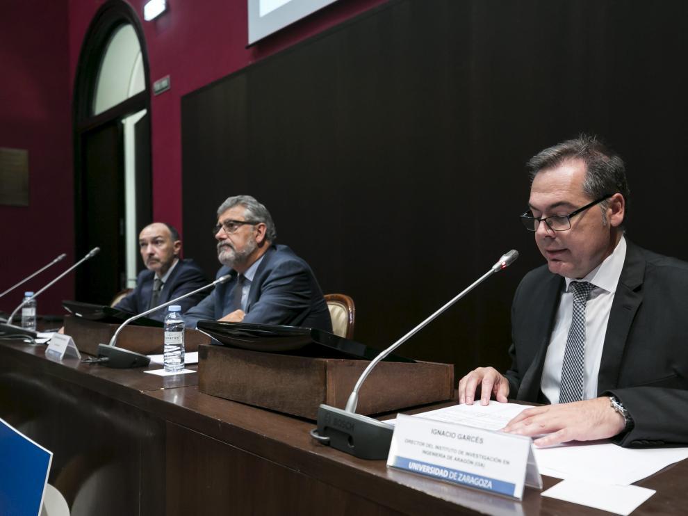 Fernando Beltrán, José Antonio Mayoral e Ignacio Garcés, en la celebración del 15 aniversario.