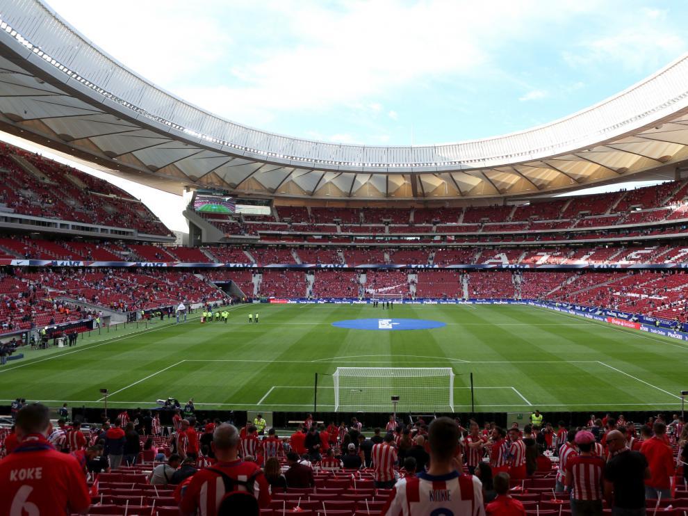 El estadio del Atlético de Madrid, el Wanda Metropolitano