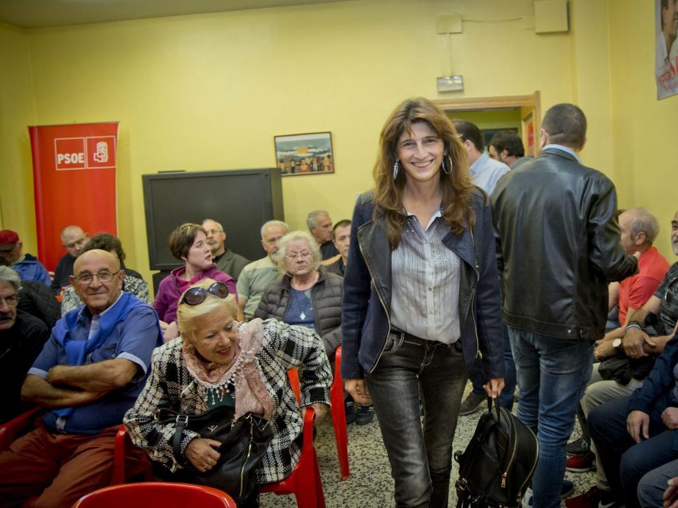 Carmen Dueso, el lunes en Calatayud.