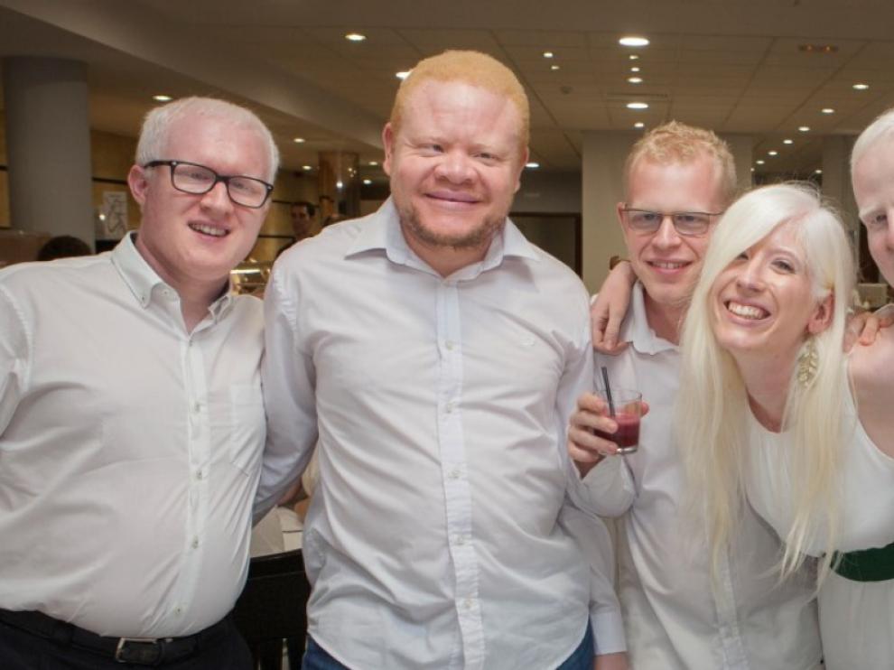 Imagen del primer encuentro nacional de jóvenes albinos, en 2016