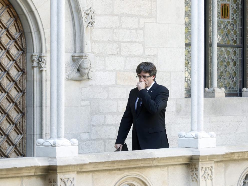 El presidente catalán Carles Puigdemont