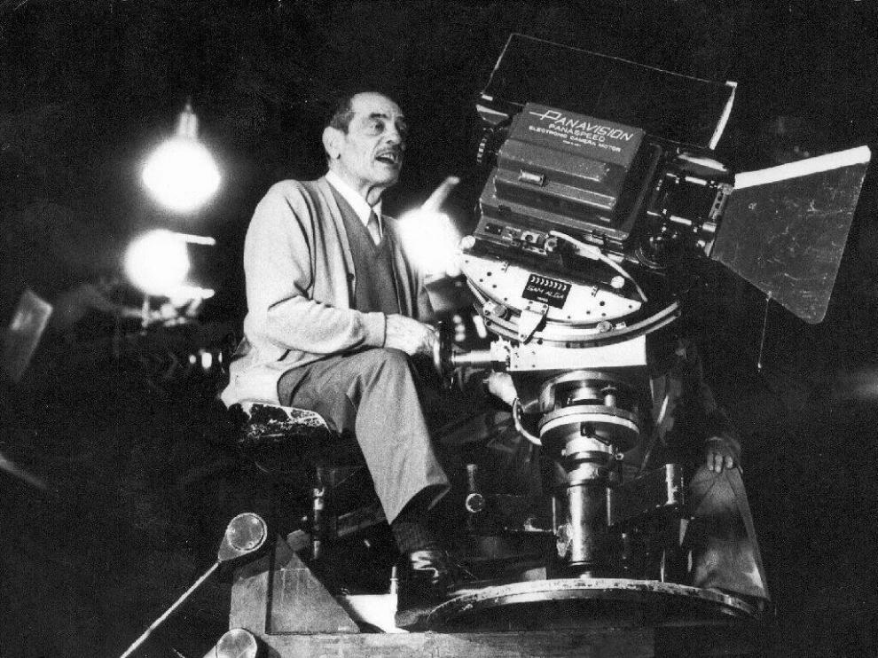 El director de cine calandino, en acción