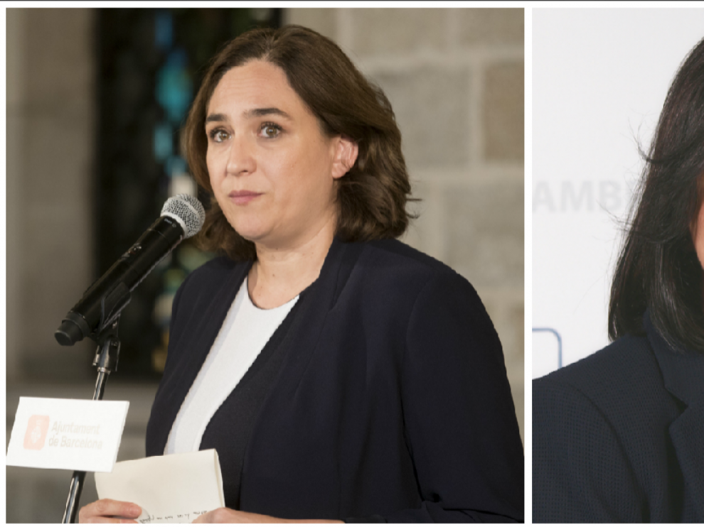 Ada Colau, alcaldesa de Barcelona, y Camí Mendoza, alcaldesa de Cambrils.