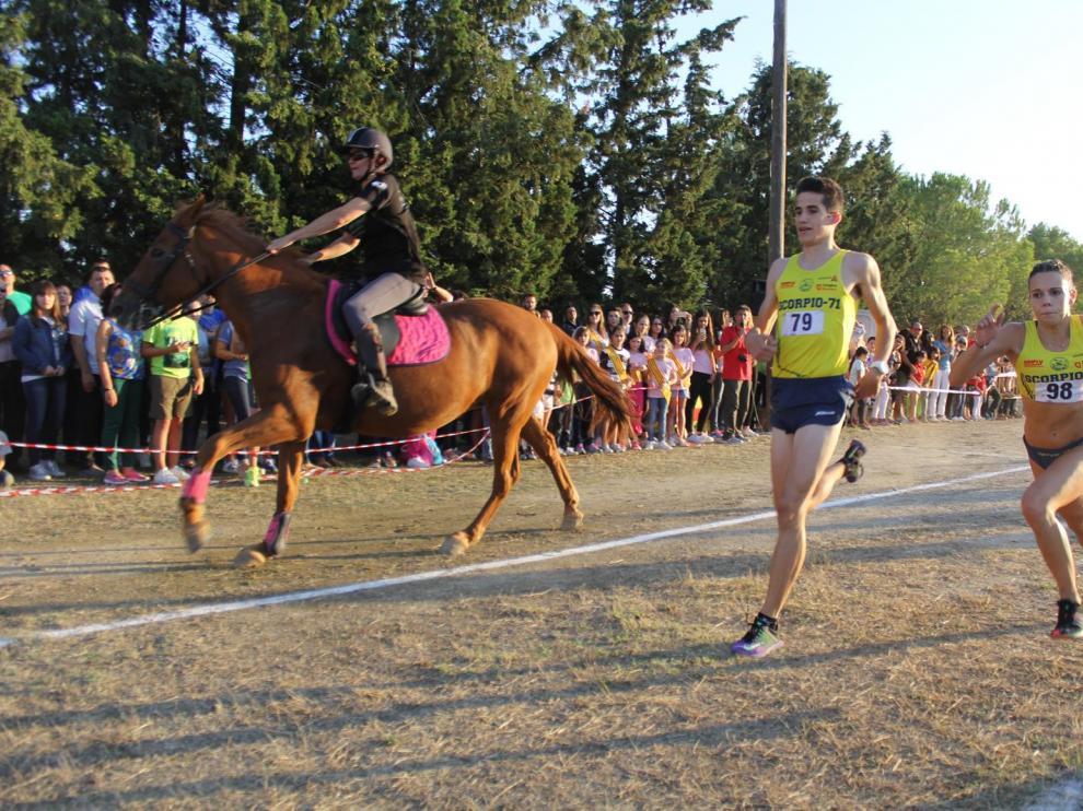 Desafío hombre -caballo en Lanaja