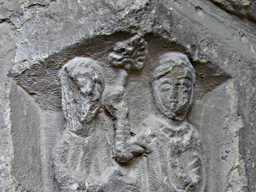 El capitel que podría representar un pasaje de la 'Eneida', según Juan Ramón Ugarte.
