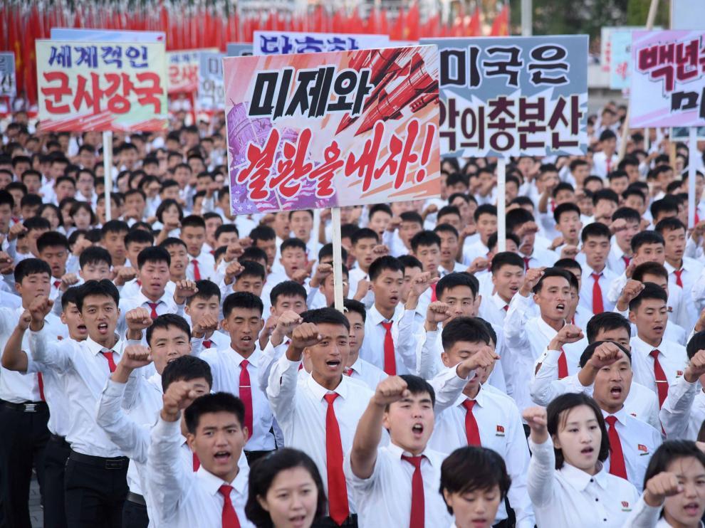 Pyongyang acoge una gran manifestación antiamericana