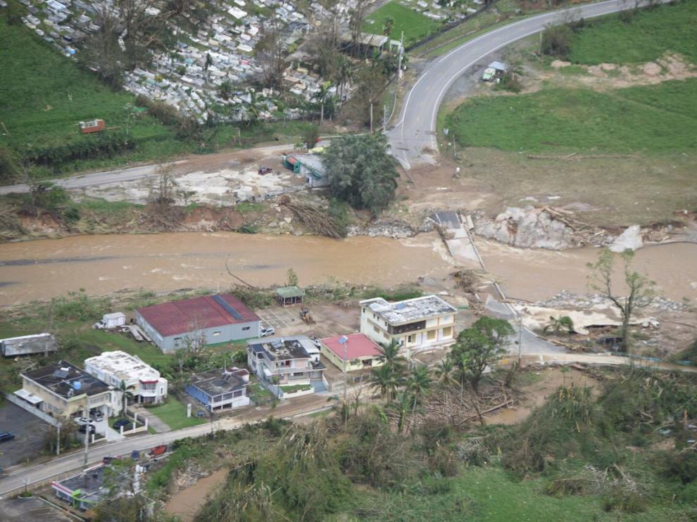 Imagen de Puerto Rico tras el paso del huracán.