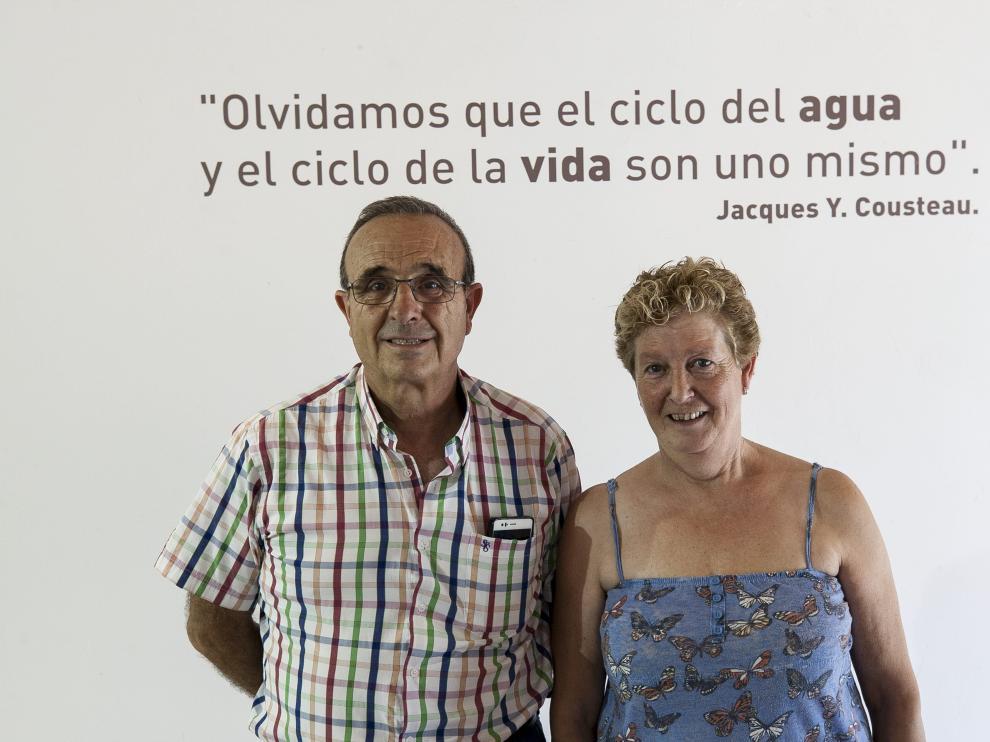 Joaquín Arnal y Miguela Sanz, en el Museo del Molino Bajo.