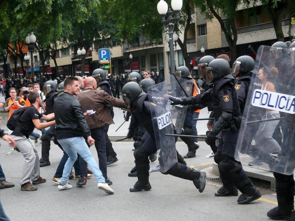 Una imagen de archivo del 1 de octubre en Cataluña