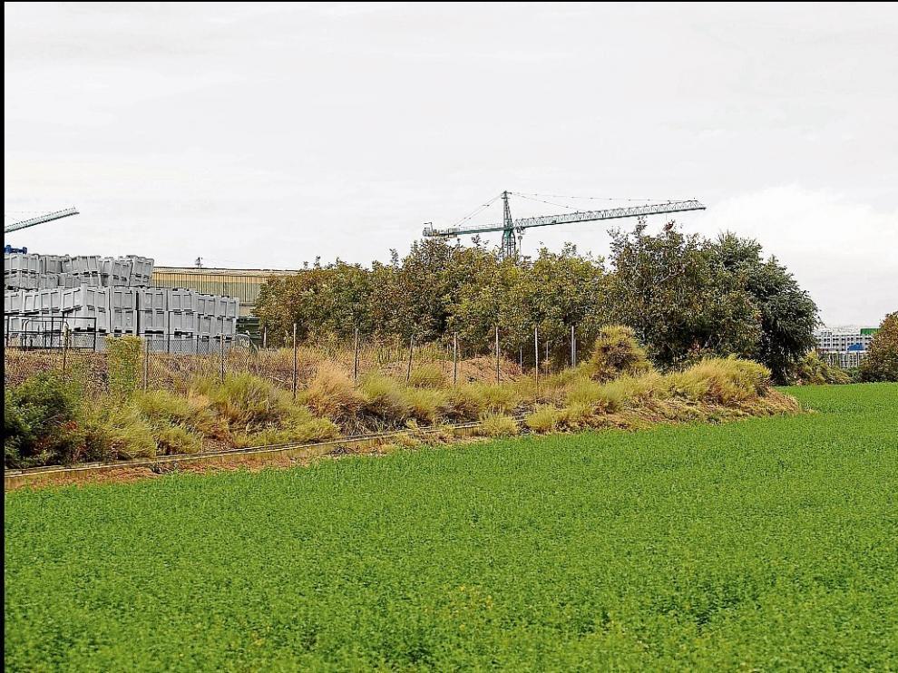 Terrenos que ha adquirido el Ayuntamiento de Fuentes para la ampliación del polígono industrial.