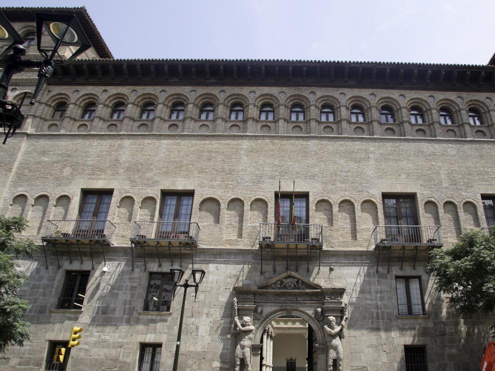 Palacio de los Luna o Condes de Morata en Zaragoza, sede del TSJA