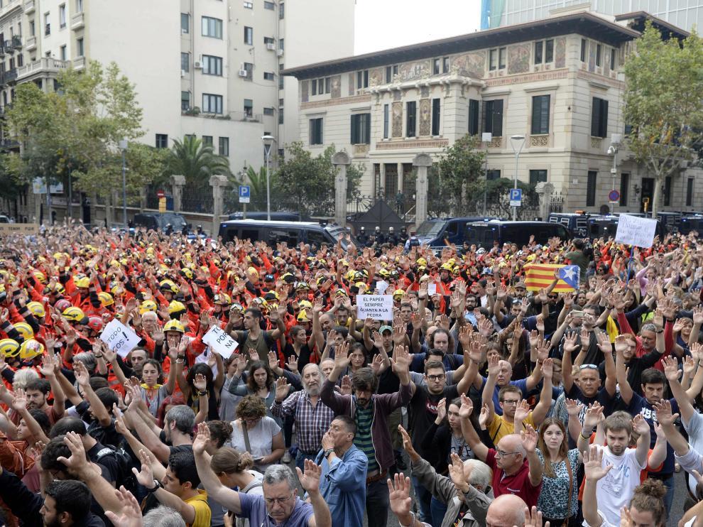 Una imagen de la jornada de huelga en Cataluña el pasado 3 de octubre.