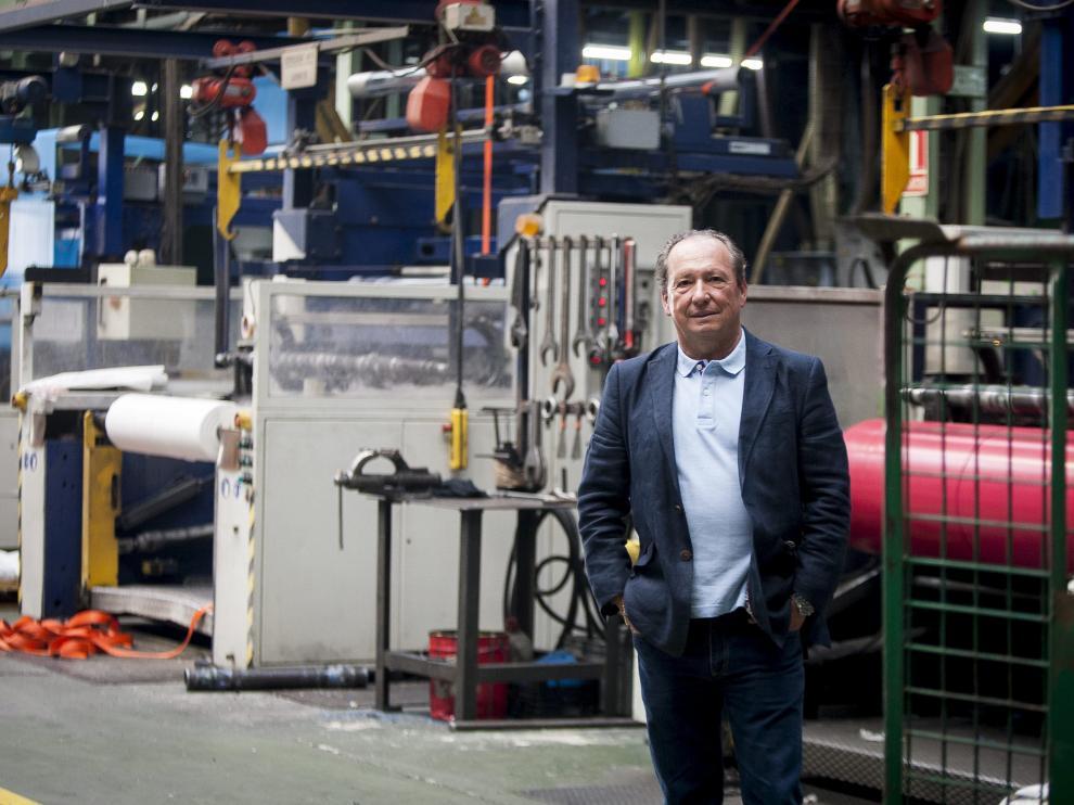 Alfonso Biel, presidente de Sphere Group Spain y director general de la fábrica del grupo en Utebo.