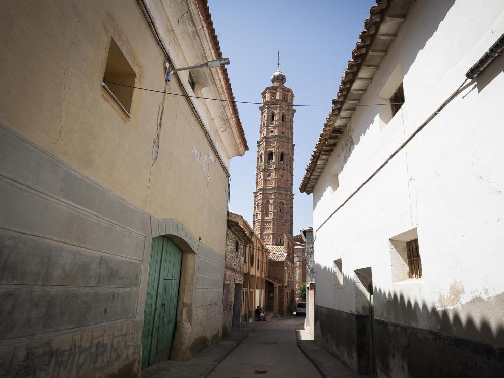 Torre mudéjar de la Iglesia  Nuestra Señora de la Asunción en Muniesa