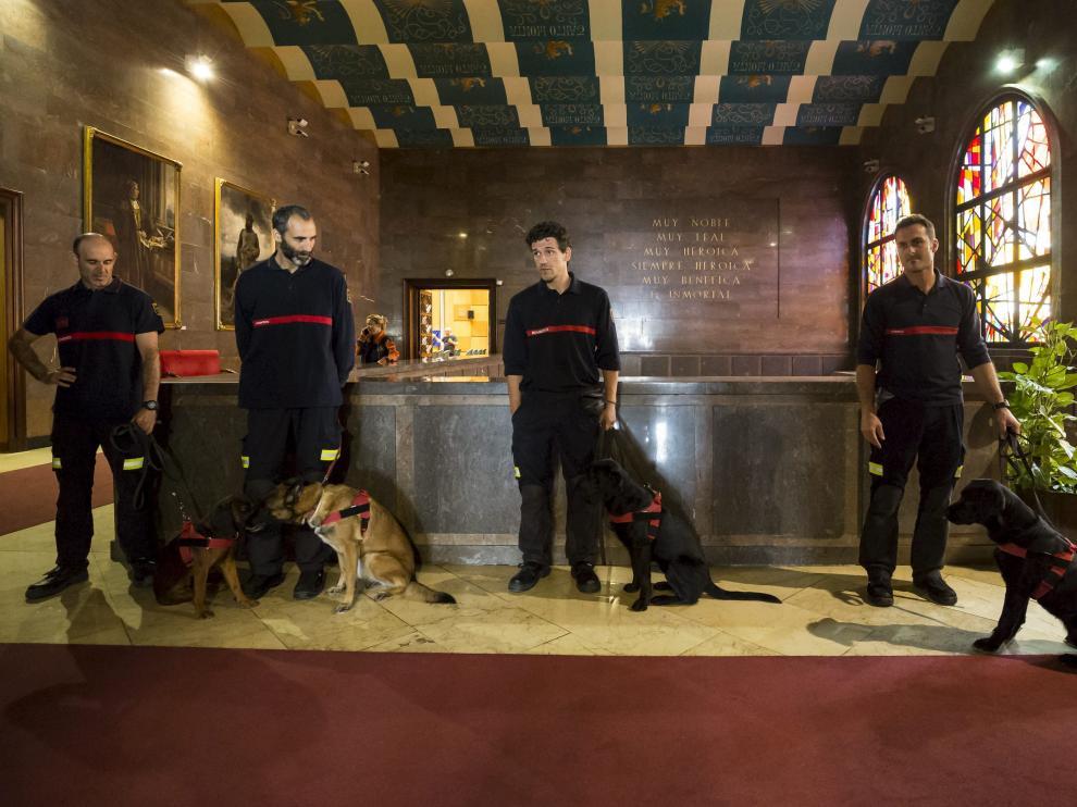 Nueva unidad canina de Bomberos de Zaragoza