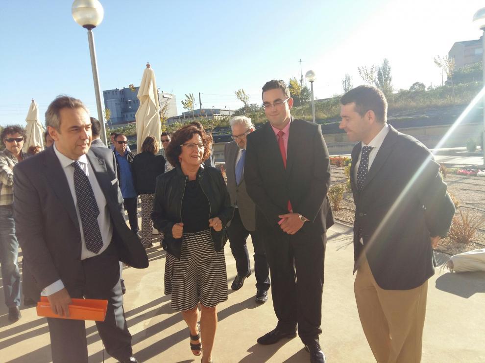 Broto ha visitado este viernes la ampliación de la residencia de Tardienta, en Huesca.