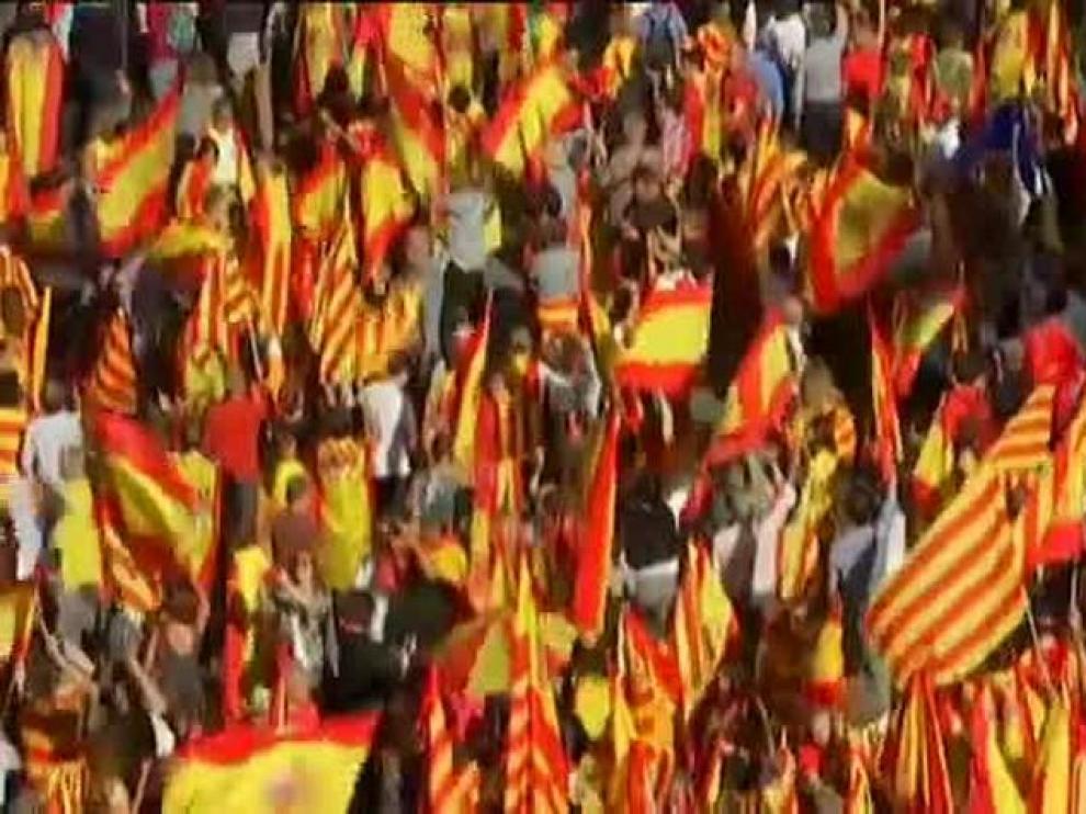 Una imagen de la última manifestación en Barcelona por la unidad de España.