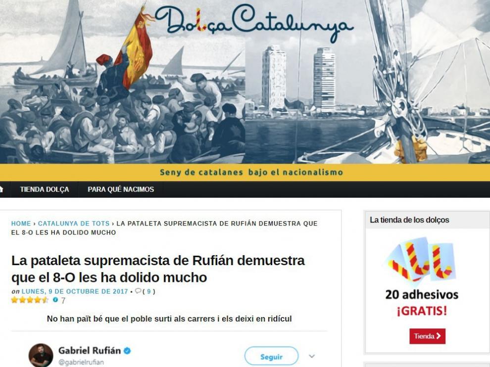 Dolça Catalunya, la web de humor que triunfa entre los no independentistas.