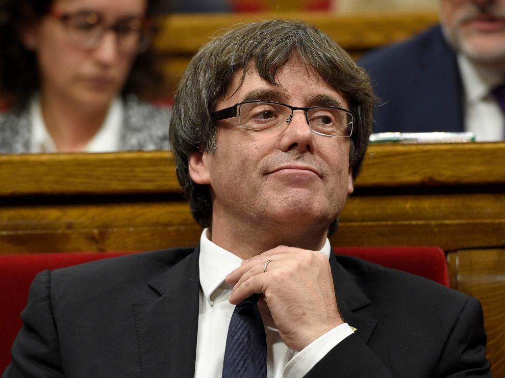 Declaración de Puigdemont ante el Parlamento de Cataluña