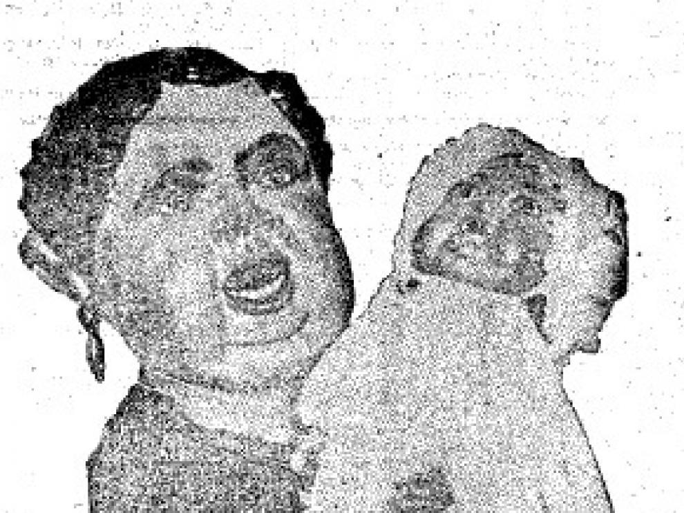 El Foranico con su ama de cría, el día del bautizo