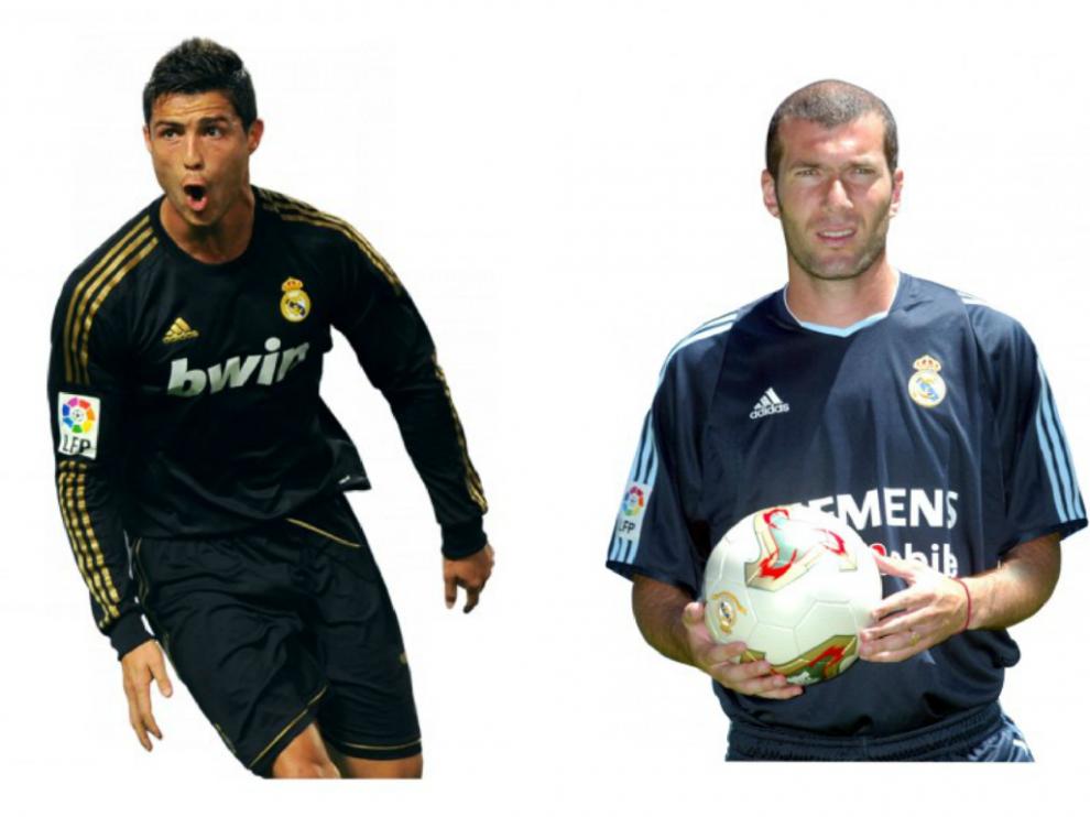 Zidane Zidane y Cristiano Ronaldo.
