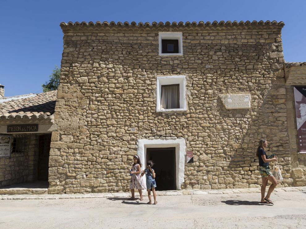 La casa natal de Goya se conserva y puede ser visitada en Fuendetodos.