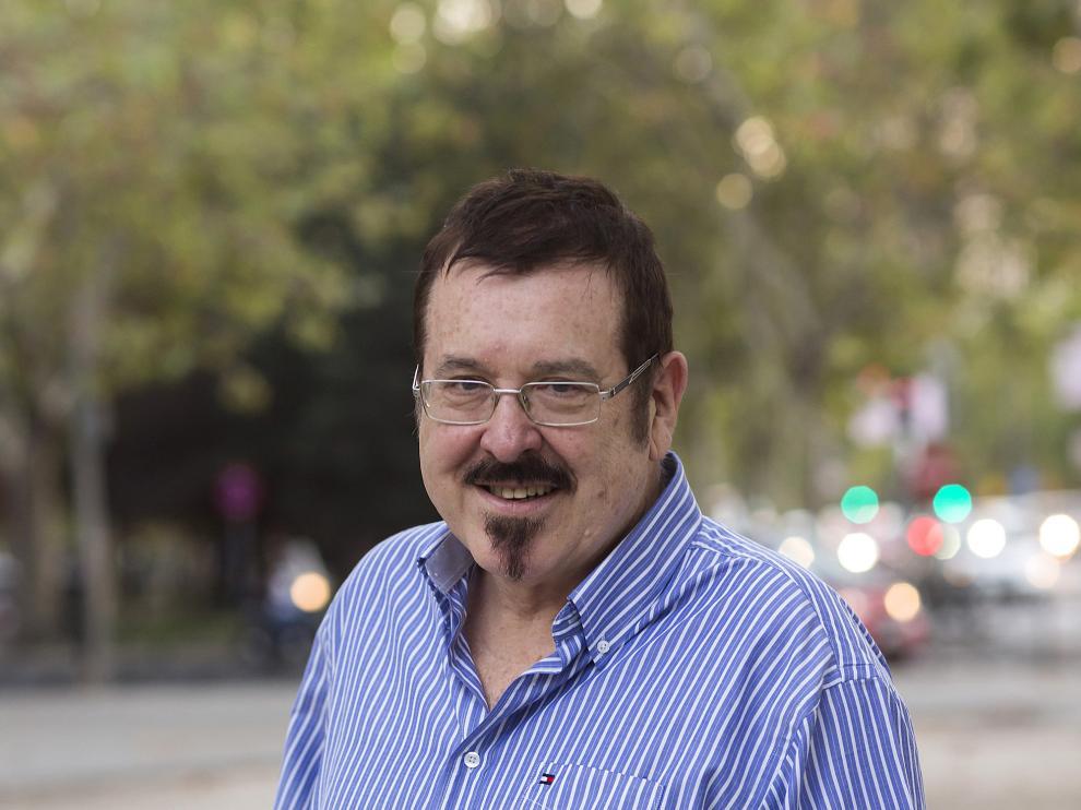 Javier Barreiro, ayer, momentos antes de presentar su libro en la librería Lé de Madrid.