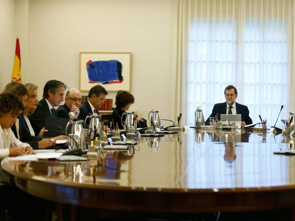 Imagen de archivo de un Consejo de Ministros.