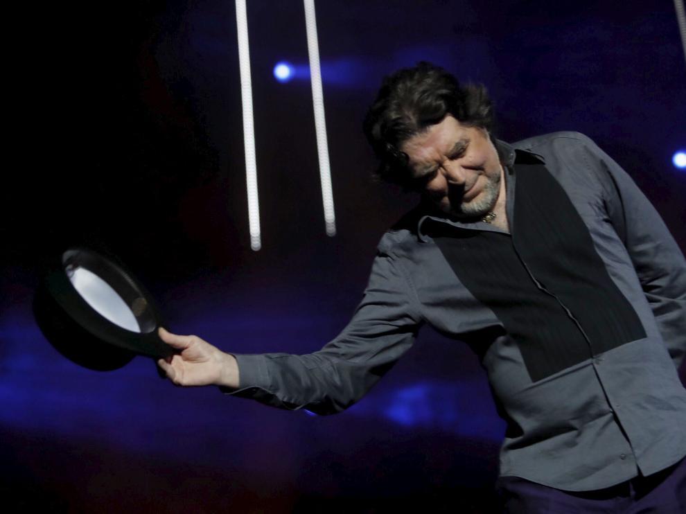 Joaquín Sabina, en el concierto del año pasado en el pabellón Príncipe Felipe.