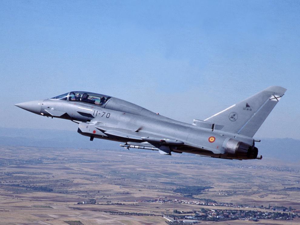 Imagen de archivo de un avión Eurofighter del Ejército del Aire.