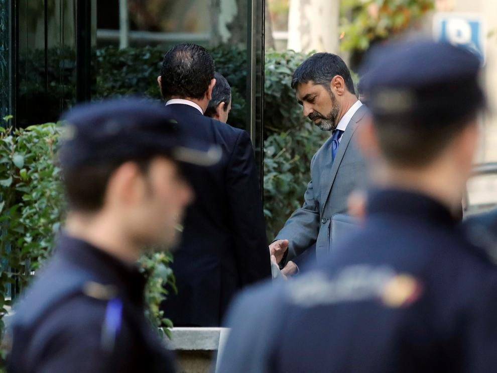 Trapero llega a la Audiencia Nacional